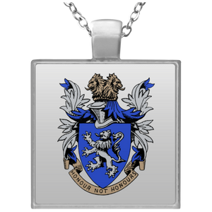Atlee coat of arms UN4684 Square Necklace