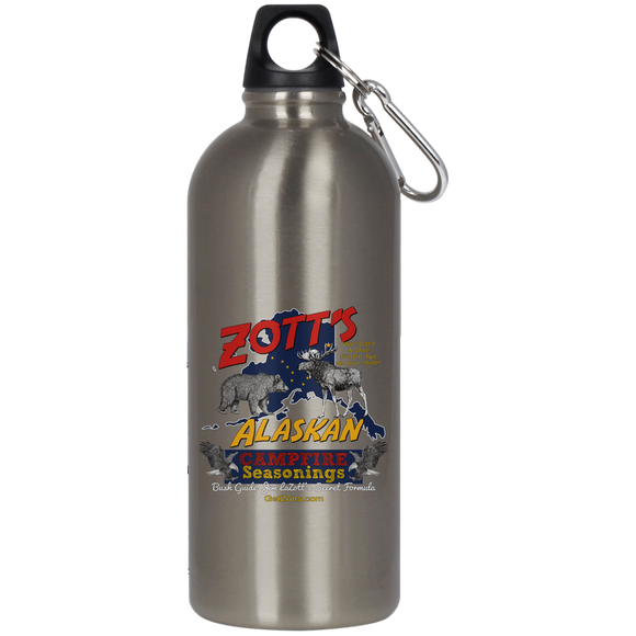 Zotts 23624 Stainless Steel Silver Water Bottle