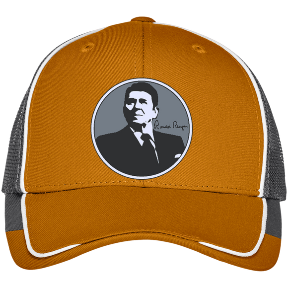 Reagan Gray Circle C904 Port Authority Colorblock Mesh Back Cap