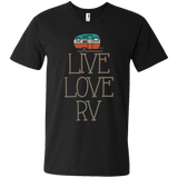 Live Love Men's Printed V-Neck T