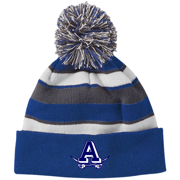 Atlee A 223835 Holloway Striped Beanie with Pom