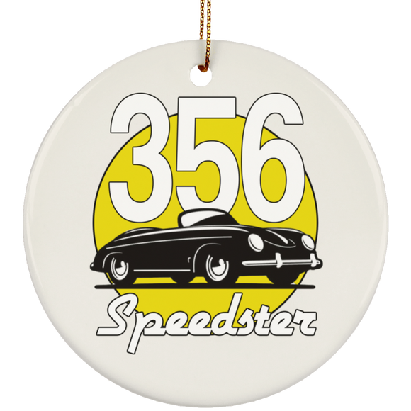 Speedster Meatball yellow SUBORNC Ceramic Circle Ornament