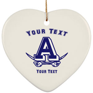 Atlee Swords Personalized SUBORNH Ceramic Heart Ornament
