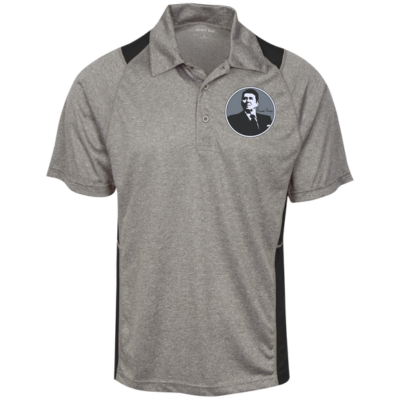 Reagan Gray Circle ST665 Sport-Tek Heather Moisture Wicking Polo