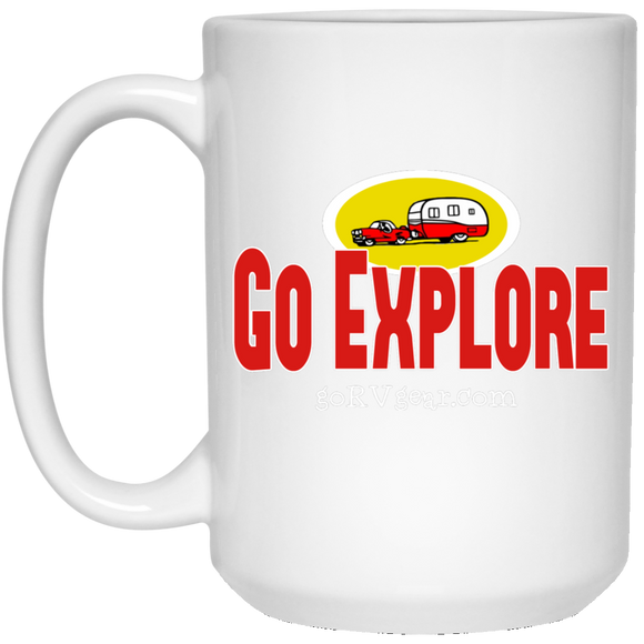 Go explore 21504 15 oz. White Mug