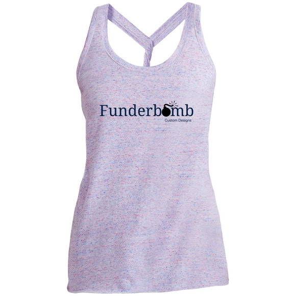 Funderbomb DM466 District Made Ladies Cosmic Twist Back Tank