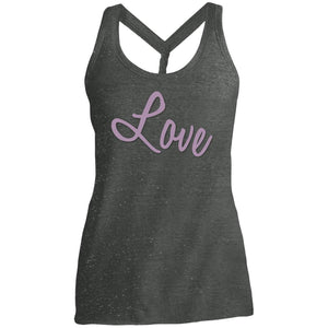 love DM466 District Made Ladies Cosmic Twist Back Tank