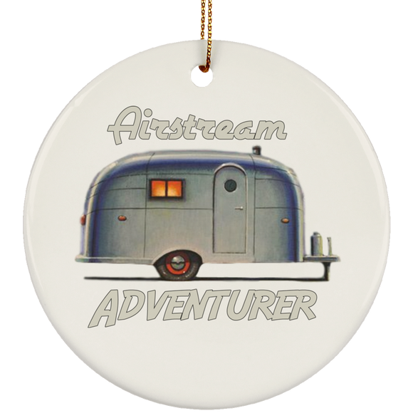 Airstream Adventurer SUBORNC Ceramic Circle Ornament