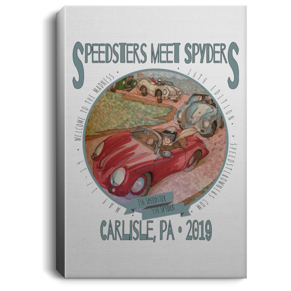 Speedsters Meet Spyders Personalize CANPO75 Portrait Canvas .75in Frame