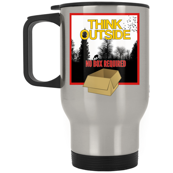 Think Outside Silver Stainless Travel Mug