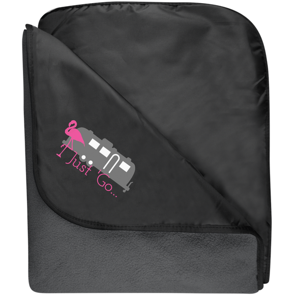 Just go flamingo TB850 Port Authority Fleece & Poly Travel Blanket
