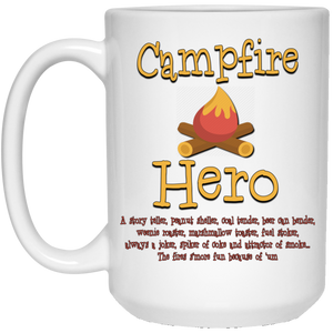 Campfire hero 21504 15 oz. White Mug