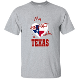 My Heart is with Texas G200 Gildan Ultra Cotton T-Shirt