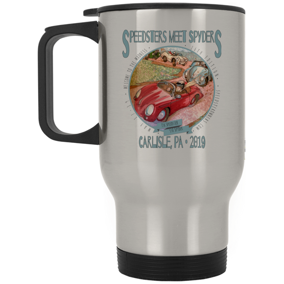 Speedsters Meet Spyders Personalize XP8400S Silver Stainless Travel Mug