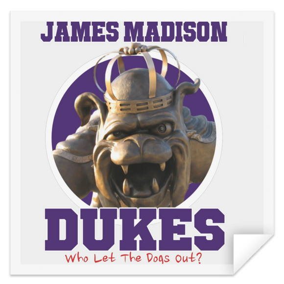 JMU Dukes dogs out STSQ Square Sticker