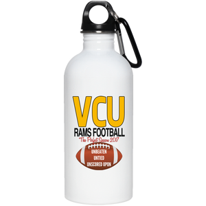 Vcu football perfect season 23663 20 oz. Stainless Steel Water Bottle