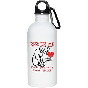 Rescue me 23663 20 oz. Stainless Steel Water Bottle