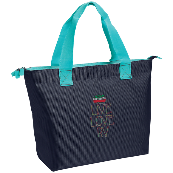 Live Love Zippered Tote