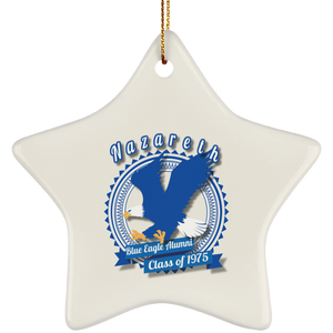 Blue eagle alumni badge SUBORNS Ceramic Star Ornament