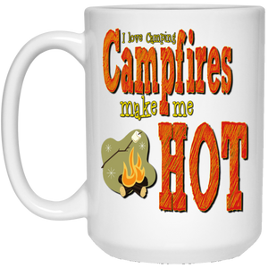 campfires make me hot 1kx1k 21504 15 oz. White Mug