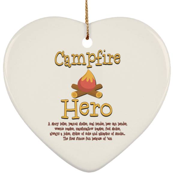 Campfire hero SUBORNH Ceramic Heart Ornament