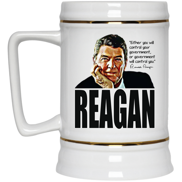 Reagan Control Gov 22217 Beer Stein 22oz.
