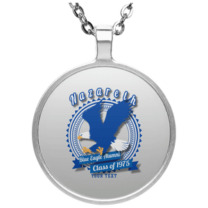 Blue Eagle Alumni Personalized UN4686 Circle Necklace