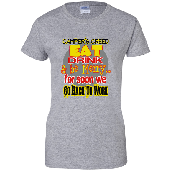 Camper's Creed Ladies' 100% Cotton T-Shirt