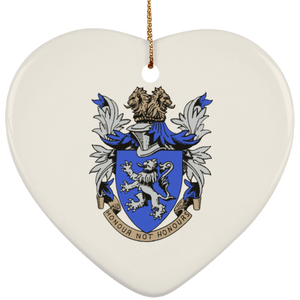 Atlee coat of arms SUBORNH Ceramic Heart Ornament