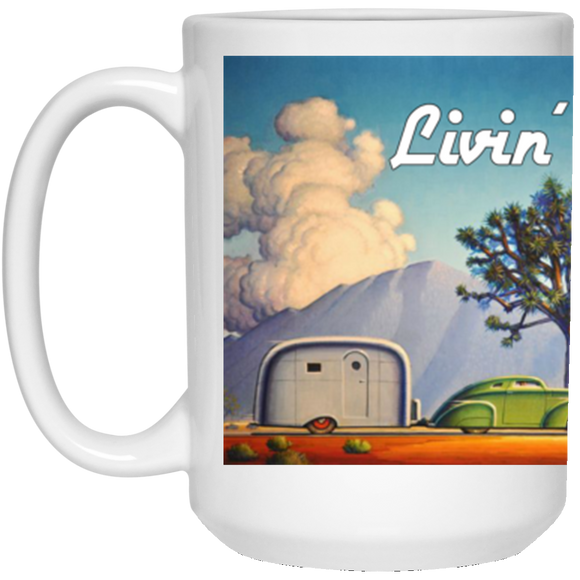livin the stream 21504 15 oz. White Mug