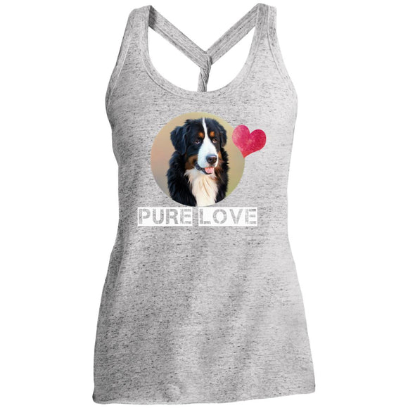 pure love DM466 District Made Ladies Cosmic Twist Back Tank