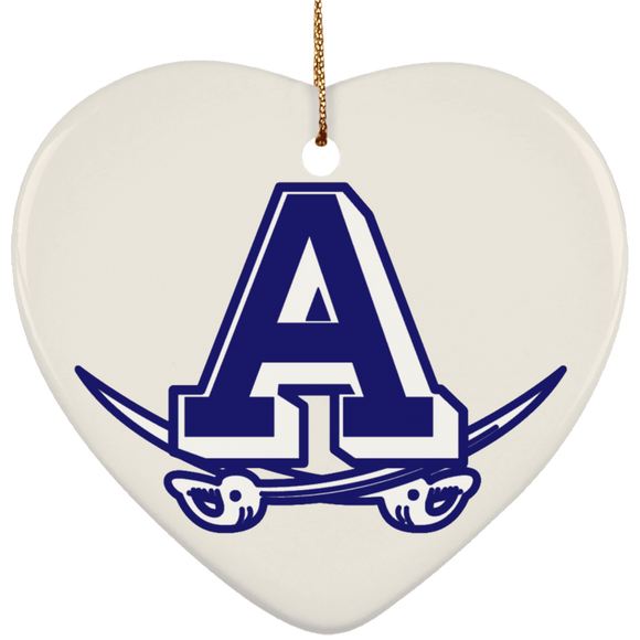 atlee swords SUBORNH Ceramic Heart Ornament