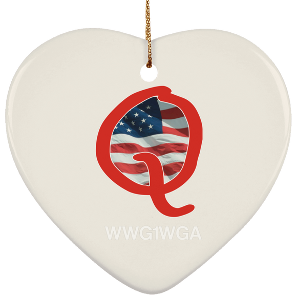Q1 SUBORNH Ceramic Heart Ornament