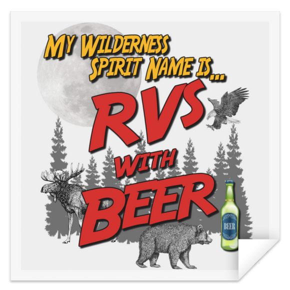 RVs with Beer 2500x3000 STSQ Square Sticker