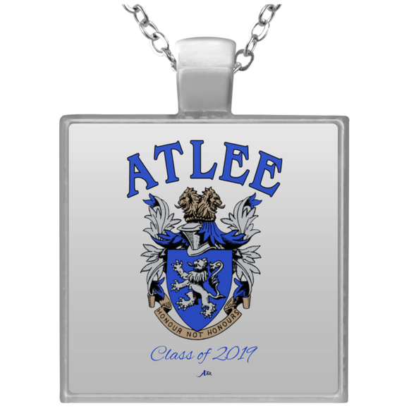 Atlee Crest Personalized UN4684 Square Necklace