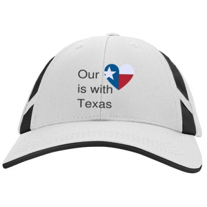 Our Heart is with Houston Sport-Tek Dry Zone Mesh Inset Cap