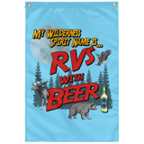 RVs with Beer 2500x3000 SUBWF Sublimated Wall Flag