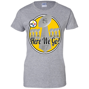 Here We Go 7 G200L Gildan Ladies' 100% Cotton T-Shirt