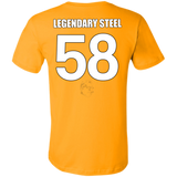 Legendary Men of Steel 58 Bella + Canvas Unisex Jersey Short-Sleeve T-Shirt