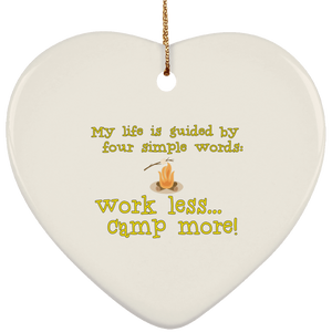 Workless camp more SUBORNH Ceramic Heart Ornament