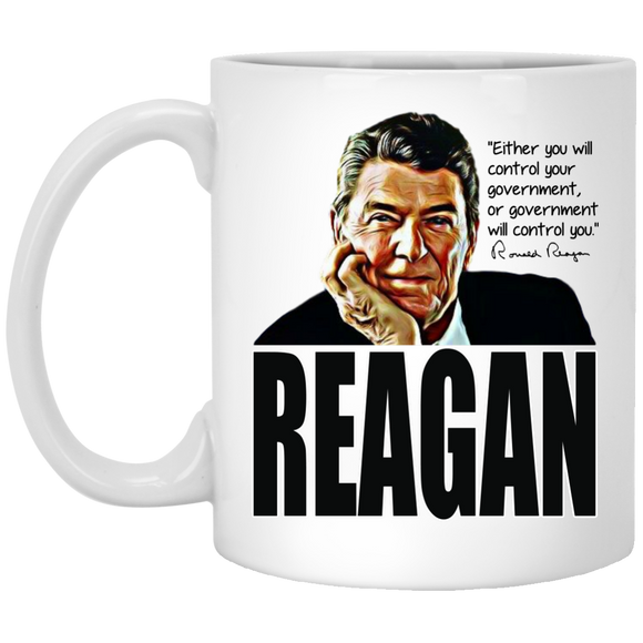 Reagan Control Gov XP8434 11 oz. White Mug