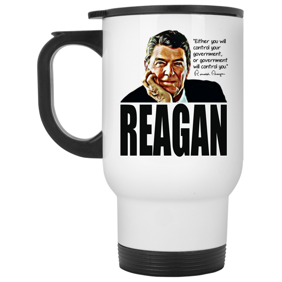 Reagan Control Gov XP8400W White Travel Mug