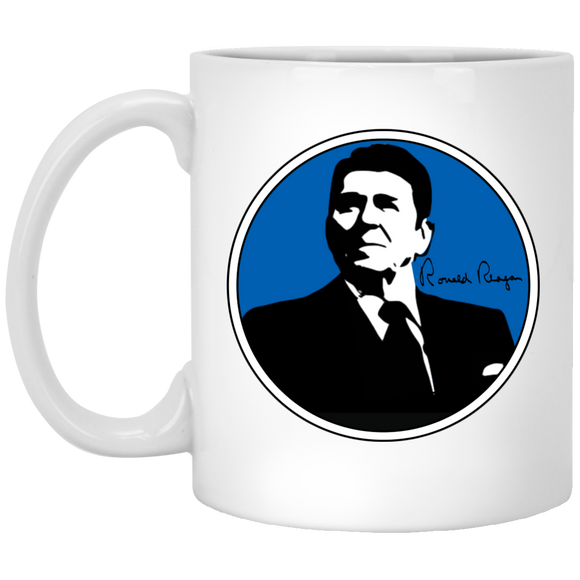 Reagan Blue XP8434 11 oz. White Mug