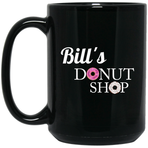 Bill's Donut BM15OZ 15 oz. Black Mug