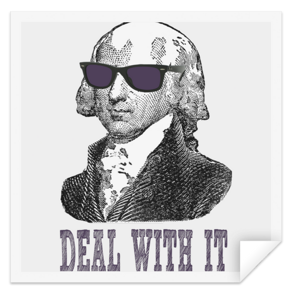 Madison deal with it dark text STSQ Square Sticker