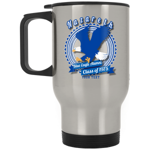 Blue Eagle Alumni Personalized XP8400S Silver Stainless Travel Mug