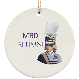 white cool mad SUBORNC Ceramic Circle Ornament