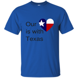 Our Heart is with Texas Gildan Ultra Cotton T-Shirt