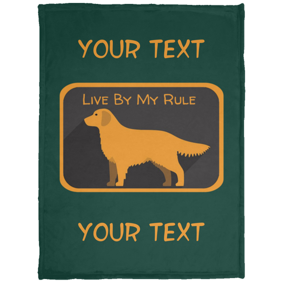 My Rule Text KP1703 Baby Velveteen Micro Fleece Blanket - 30x40