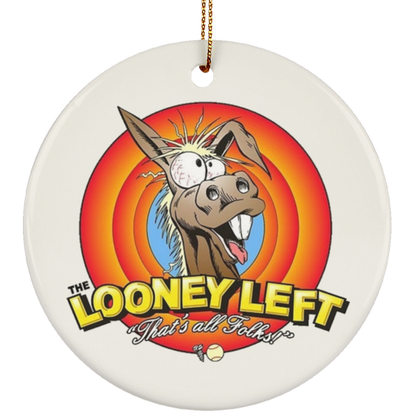 Looney left 3831x3607 SUBORNC Ceramic Circle Ornament